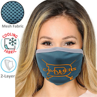 2-Layer Cooling Face Mask w/Screen Print Masks