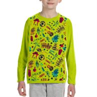 Long Sleeve Youth Round Neck T-Shirts W/ Dye-Sublimation