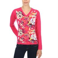 Women'S Long Sleeve V-Neck T-Shirt W/Dye Sublimation Tshirts