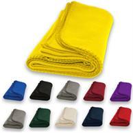 "Economy Fleece Blanket W/ Merrow Edging 50"" X 60"""