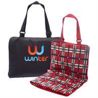 """Fleece Picnic Blankets W/ Zipped Tote Bag 53""""L X 47.25""""W"""