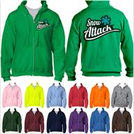 Athletic Winter Hooded Sweatshirt w/ Full Zip 7.5 oz