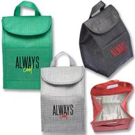 Economy Shimmer Lunch Bags w/ Velcro Closure & Handle
