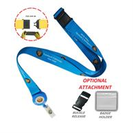 "3/4"" Sublimated Lanyard Badge Reel Combo W/ Safety Breakaway"