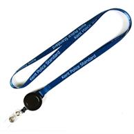 1/2 Inch Dye Sublimation Lanyards W/ Retractable Reel Combo