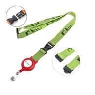 Polyester Lanyard Badge Reel Combo W/ Safety Breakaway & Buckle Release