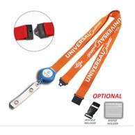 Polyester Combo Badge Reel Lanyard W/ Safety Breakaway