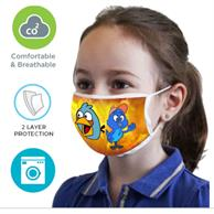 2 Layer Face Mask W/ Full Color Imprint & Elastic Ear-Loop