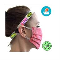 Mask Headband W/Full Color Imprint & Button Mask Keeper Band