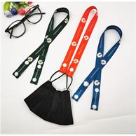 "3/4"" Full Color Mask Lanyard w/Snap Button Adjustable Holder"