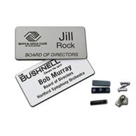 2.125 Inch X 3.375 Inch Plastic Engraved Name Badge