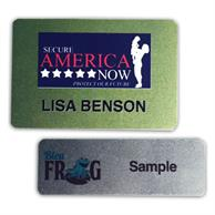 2 Inch X 3 Inch Metal Name Badge