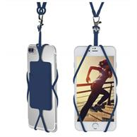 SILICONE PHONE WALLET WITH LANYARD ADHESIVE CARD HOLDER