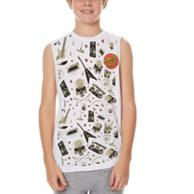 Youth Round Neck Sleeveless W/ Edge To Edge Sublimation Tanks