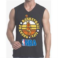 Men'S V-Neck Sleeveless T-Shirt W/ Edge To Edge Sublimation Tanks