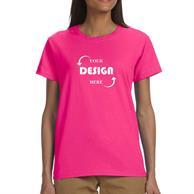 Gildan 6.1 oz 100% Cotton Preshrunk Ladies T-Shirt w/ Custom Imprint