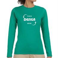 Gildan 4.5 oz 100% Cotton Preshrunk Softstyle Girls' Fit Long Sleeve T-Shirts