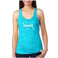 Next Level 3.7 oz. 65/ 35 Cotton/ Polyester Ladies Racer Back Tank Tops
