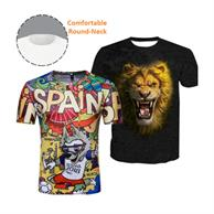 Round Neck T-Shirts W/ Edge To Edge Sublimation T-Shirt