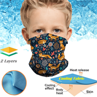 Kids Icy-Kool Neck Gaiter Reusable Summer Face Bandana Mask