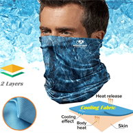 Icy-Kool Neck Gaiter Reusable Summer Face Bandana Mask