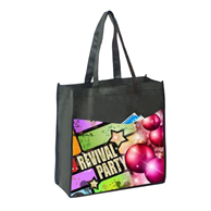 """FULL COLOR TALL TOTE BAG WITH 5"""" GUSSET"""