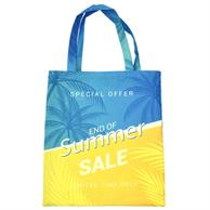 CLASSIC SCALLOP FULL COLOR TOTE BAG WITH LONG HANDLES