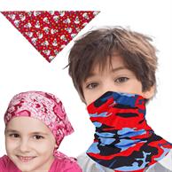 Kids Triangle Bandana Sublimated Safety Face Bandannas