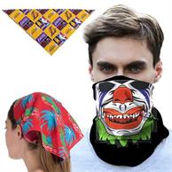 Triangle Bandana w/ Full Color Imprint Safety Face Bandannas