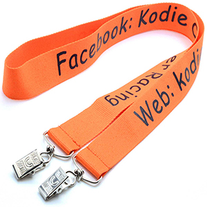 "1"" Polyester Lanyard Double Ended"