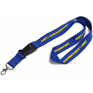 """5/8"""" Polyester Lanyard w/ Buckle Release"""