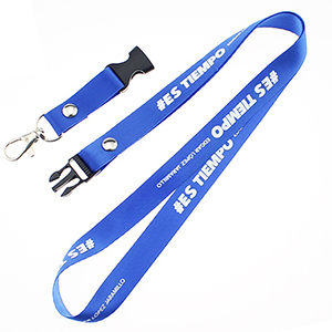 "1/2"" Polyester Lanyard w/ Buckle Release"