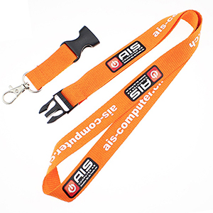 "3/4"" Polyester Lanyard w/ Buckle Release"