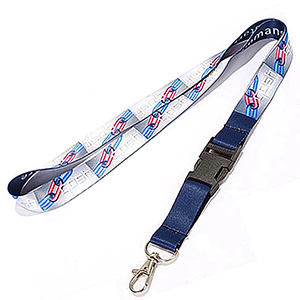 "3/4"" Dye Sublimation Lanyard W/ Buckle Release"