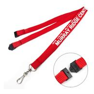 "1/2"" Tube Lanyards With Safety Breakaway"