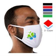 Sporty 2 Layer Mask W/ Elastic Earloops Custom Face Masks