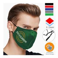 2 Layer Performance Mask W/ Nose Bridge, Adjuster Face Masks