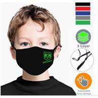 Kids Face Masks 3 Layers W/ Filter Pocket, Nose Bridge