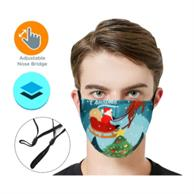 Rush 2-Layer Face Mask W/ Full Color Logo Adjustable Masks
