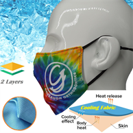 IcyKool Face Mask 2-Layer Performance Summer Face Masks