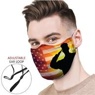 Adjustable Face Mask, Full Color Cloth Safety Masks 4 Layer