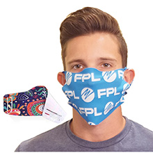 No-Sew Face Mask w/ Full Color Imprint Washable Safety Masks