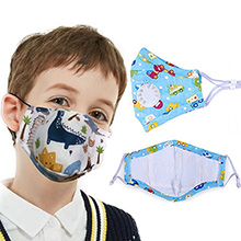 Kids Face Mask w/ Full Color Imprint Cotton Safety Masks