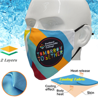 IcyKool Face Mask 2-Layer Breathable Summer Face Masks
