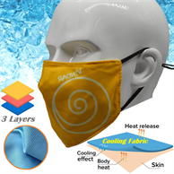 Cooling Face Mask 3-Layer Summer Relief Performance Masks