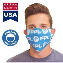 Usa Made No-Sew Face Mask W/ Full Color Imprint Washable