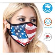 Usa Printed 2 Layer Face Mask W/ Full Color Imprint