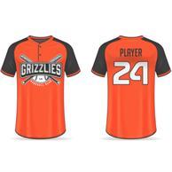 Men'S 2-Button Front Baseball Jersey