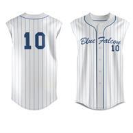 Men'S Full Button Front Sleeveless Baseball Jersey