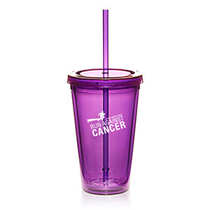 16 Oz. Double Wall Acrylic Tumblers W/ Straws